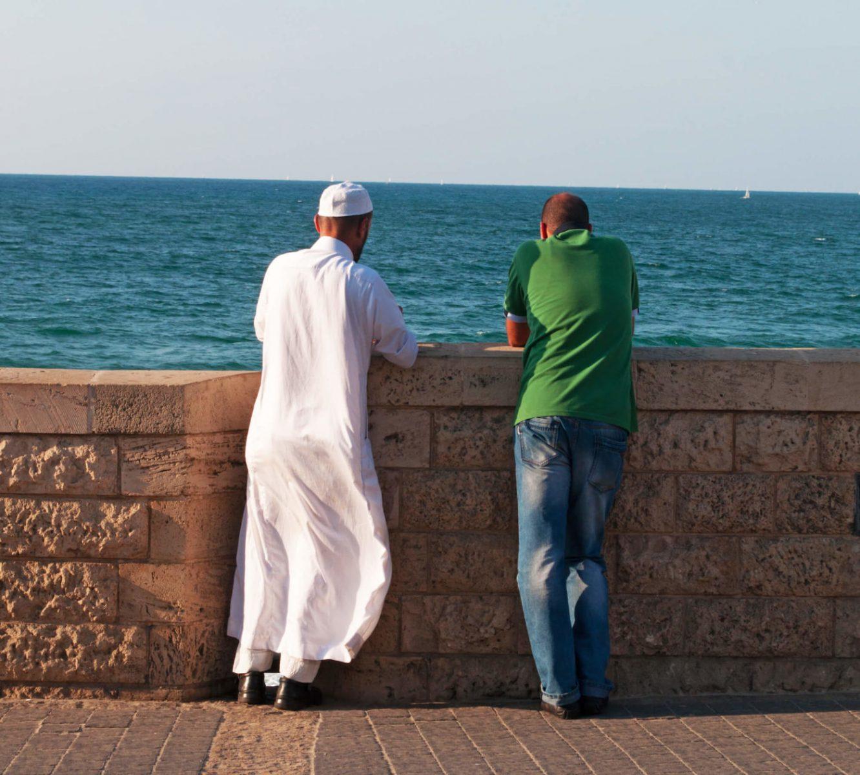 Jew and Arab talking