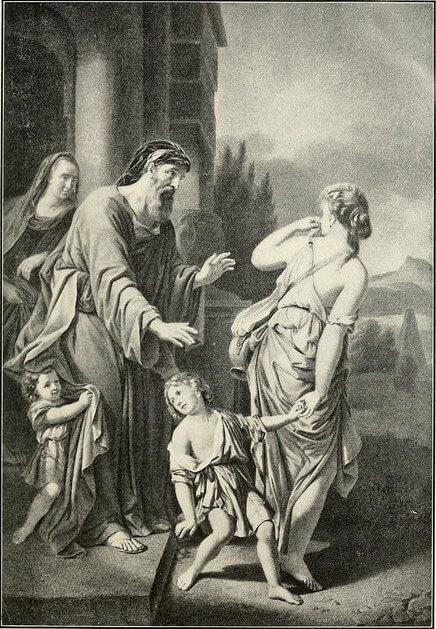 Hagar & Ishmael sent away by Abraham