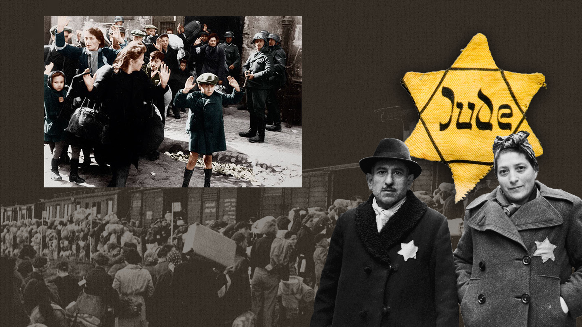 Jews being forced from their home land before the Holocaust
