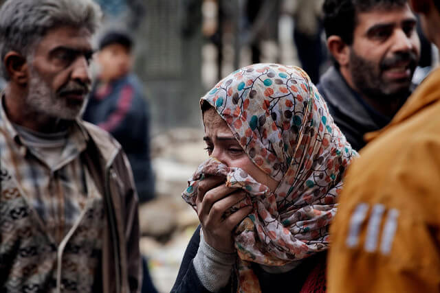 Syrian Woman Crying